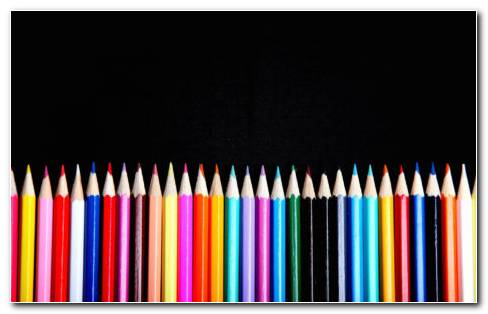 Sharp Colorful Pencils HD Wallpaper
