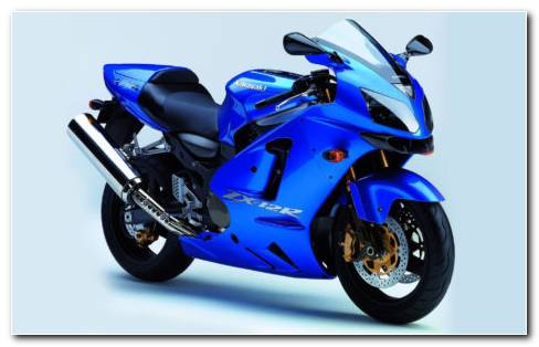 Shinning Blue Kawasaki Ninja HD Wallpaper