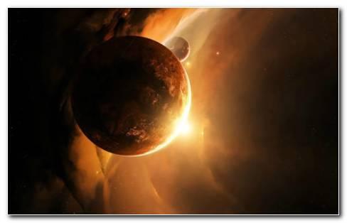 Shinning Planet HD wallpaper