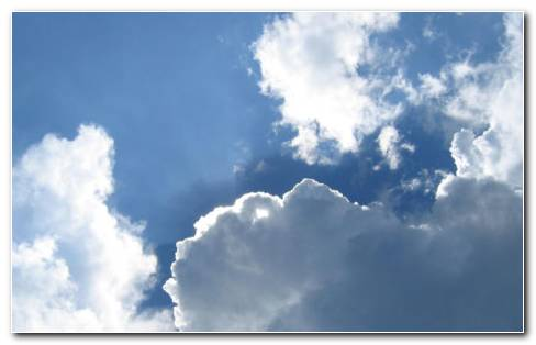 Shinning White Clouds HD Wallpaper