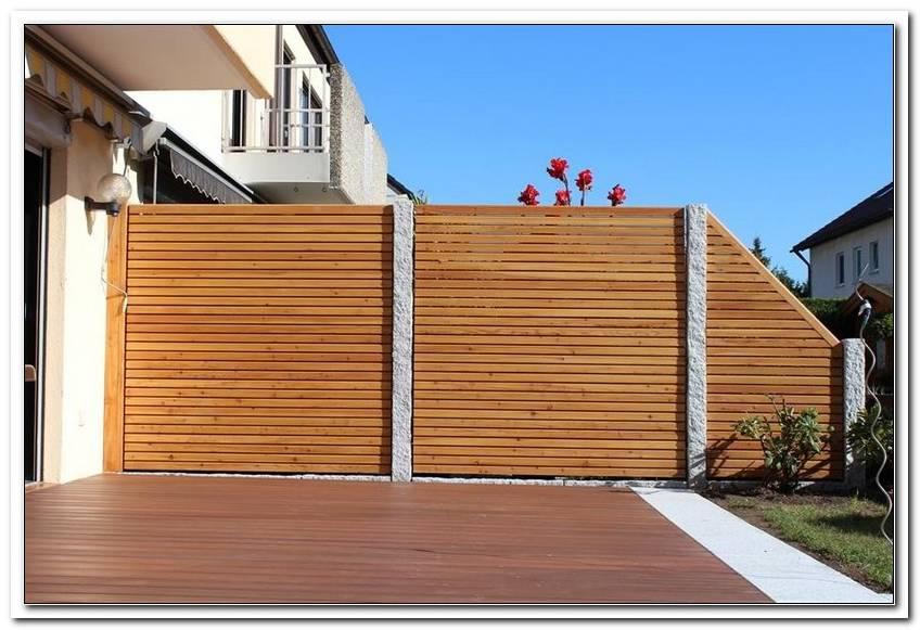 Sicht Und Windschutz Terrasse Holz