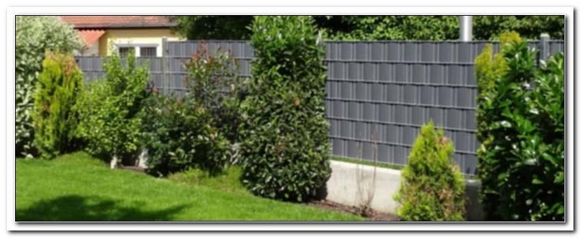 Sichtschutz Garten Kunststoff Anthrazit