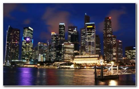 Singapore shinning in night HD wallpaper