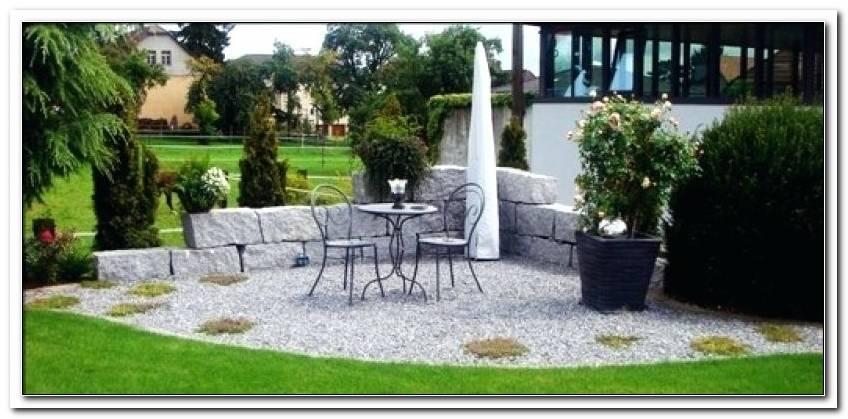 Sitzplatz Garten Kies Selber Machen