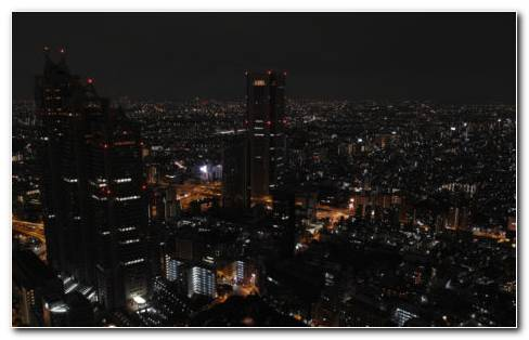 Skyscrapers Tokyo Night HD Wallpaper