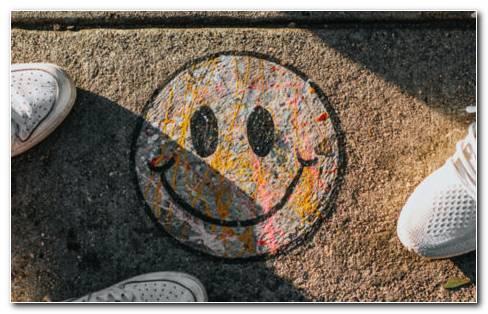 Smile feet art HD wallpaper