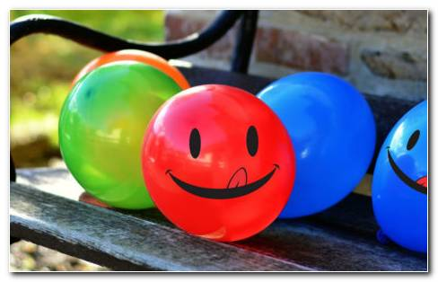 Smiley balloons HD wallpaper