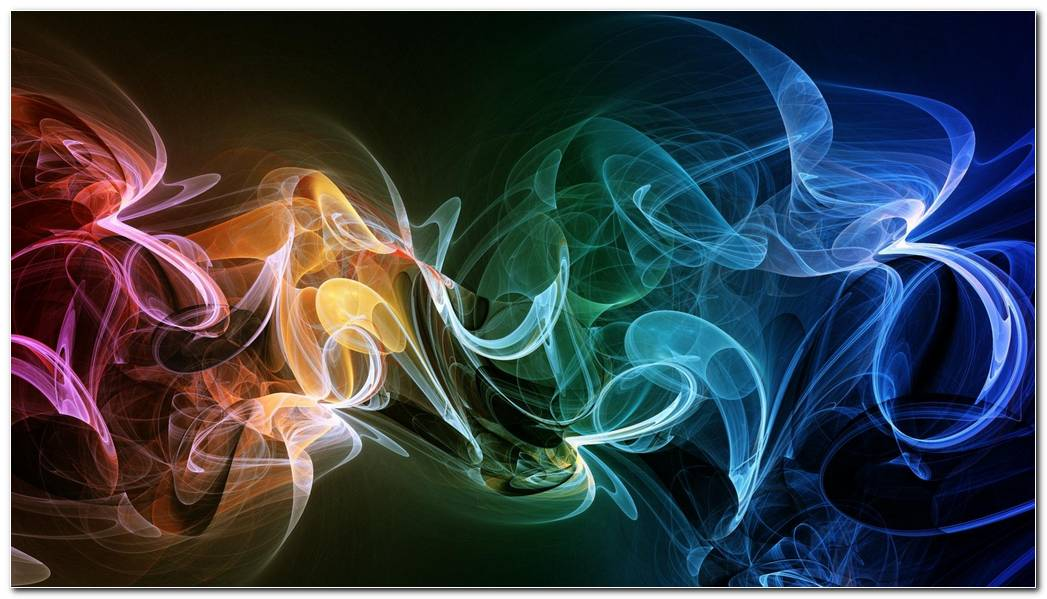 Smoke Multicolored Bright Colorful Swirl Background Wallpaper