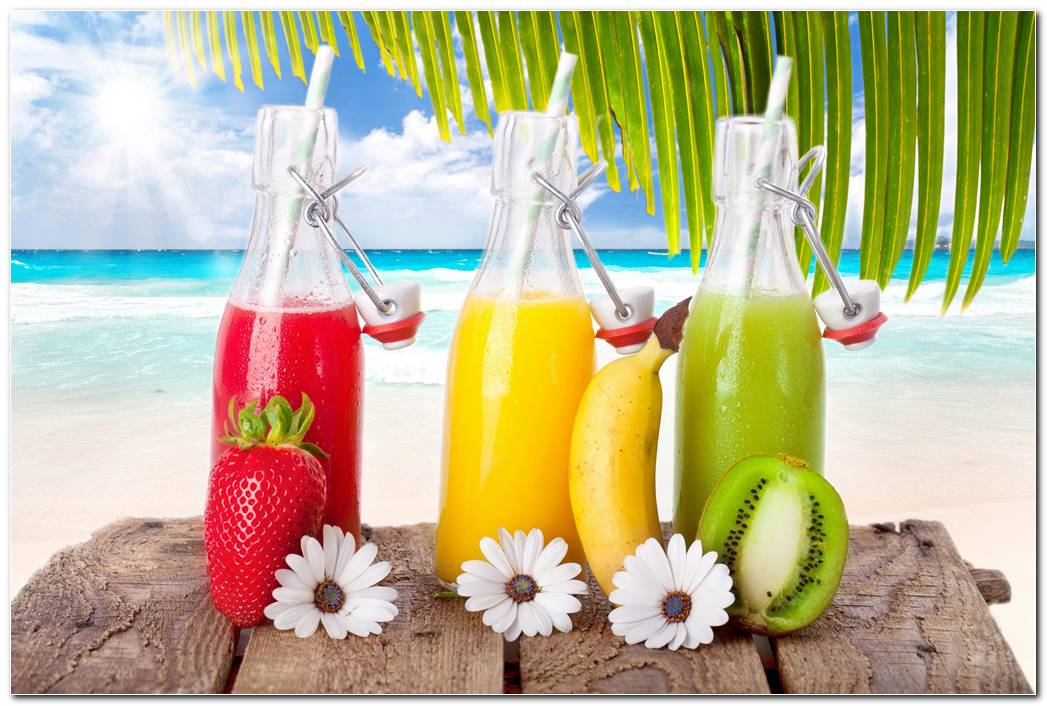 Smoothies Kiwi & Banana HD Wallpaper Min