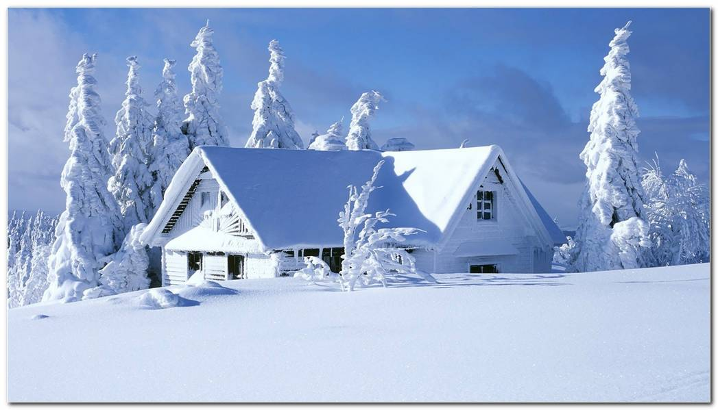 Snow House Background HD