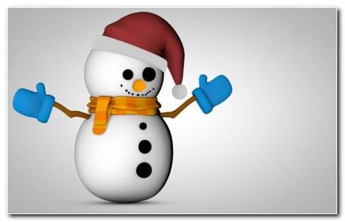 Snowman 3D HD wallpaper