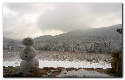 Snowman The Toy Of Snow HD Wallpaper