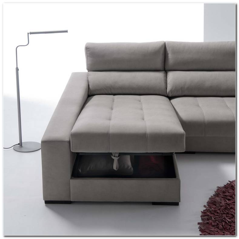 Sof Cama Con Chaise Longue Y Arcon