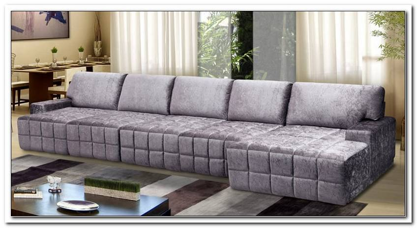 Sofa 4 Lugares Com Chaise Retratil