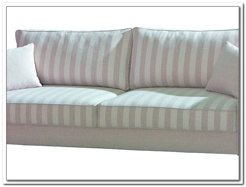 Sofa Grau Wei Gestreift