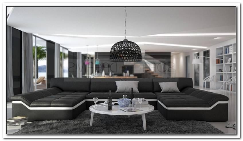 Sofa Grau Wei? U Form