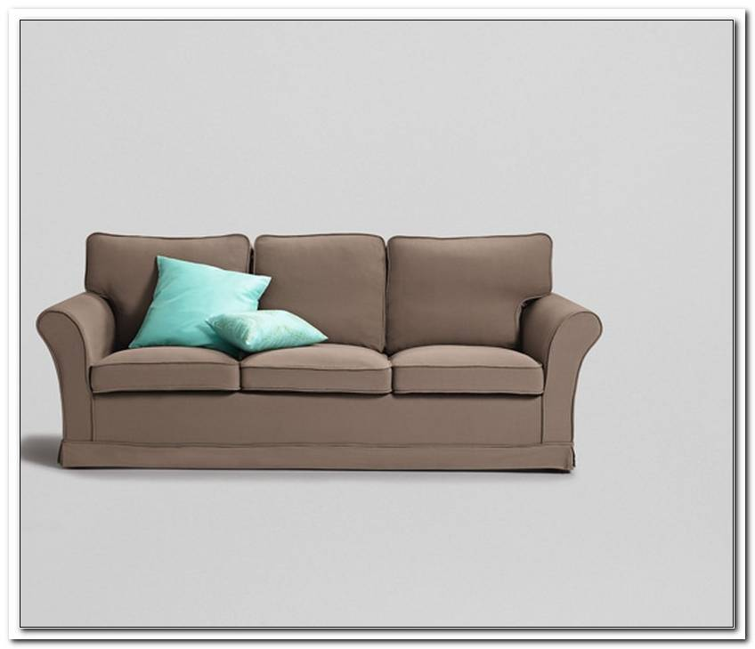 Sofa Husse Grau Braun