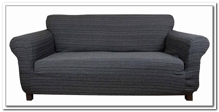 Sofa Husse Grau Ottomane