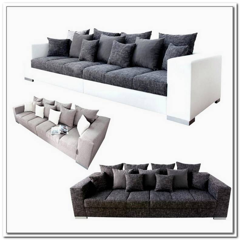 Sofa L Form Braun