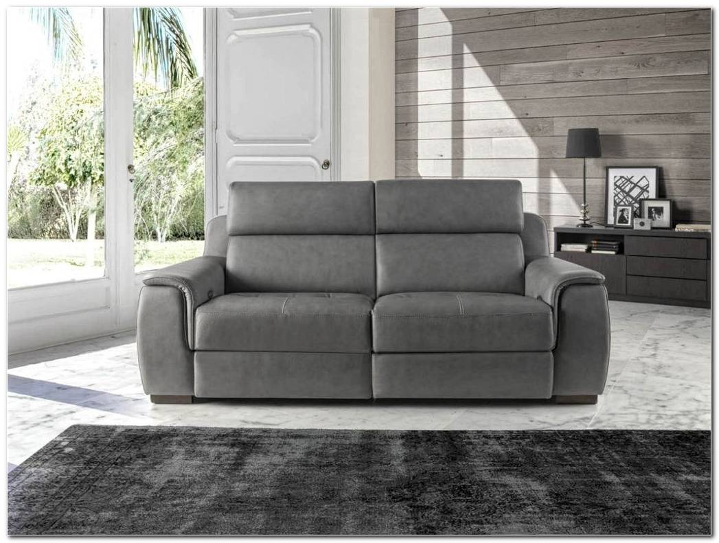 Sofa Piel Gris