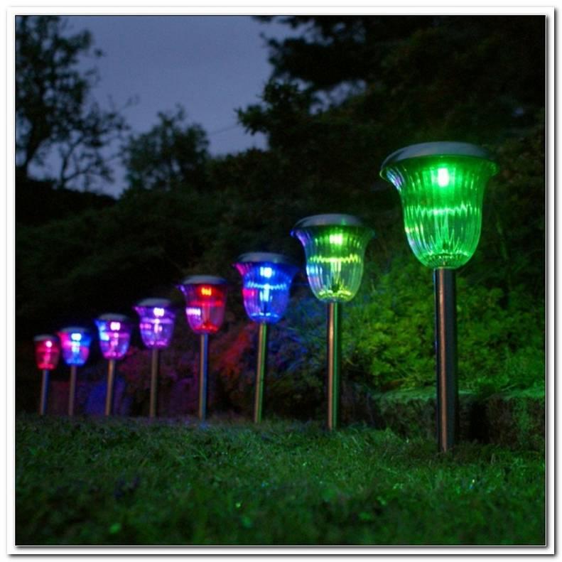 Solarlampen Im Garten