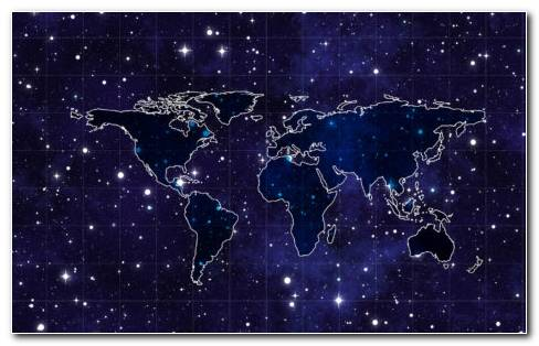 Space Continents HD Wallpaper