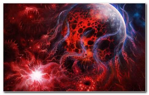 Space Demonic Art HD Wallpaper