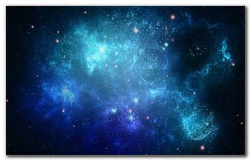 Space Full Of Blue Dots HD Wallpaper