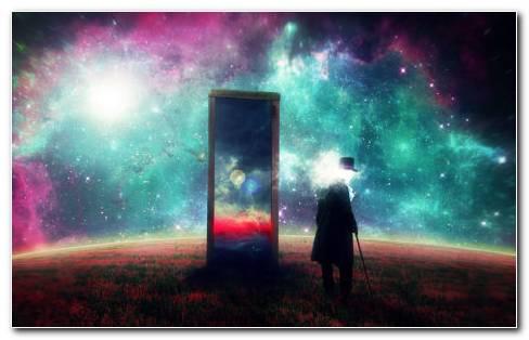 Space mirror HD wallpaper