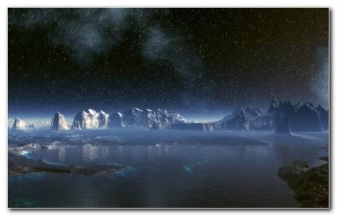 Space & The Shinning Rocks HD Wallpaper