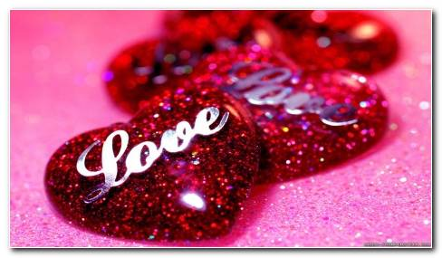 Sparkly Red Love