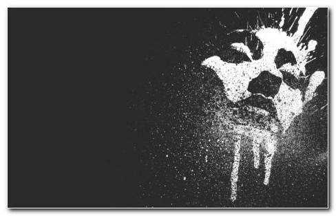 Splatter Face Art HD Wallpaper