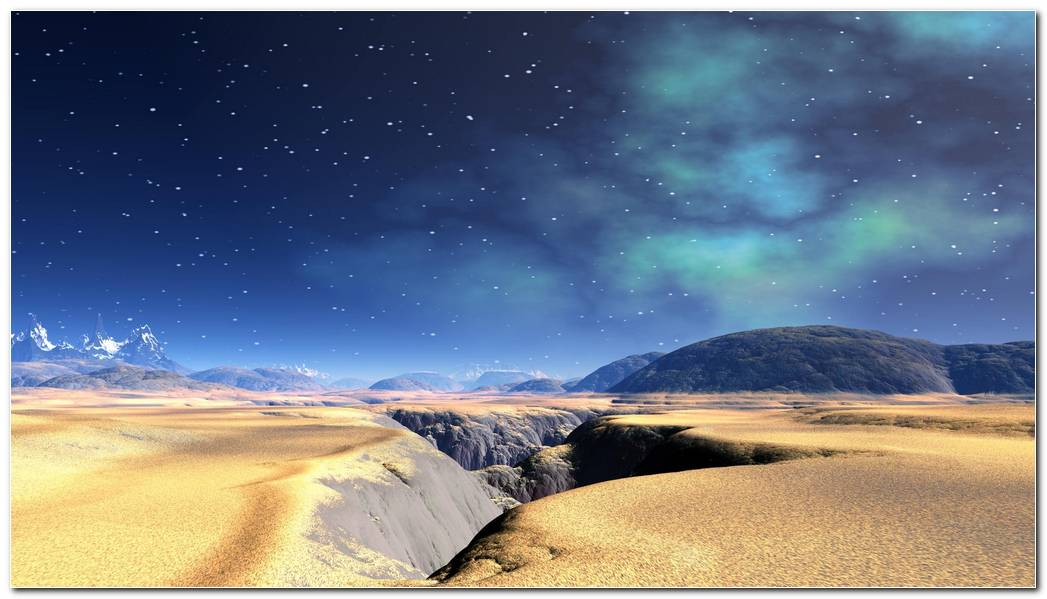Stars Background Backgrounds Desktop Desert Landscape Desktops