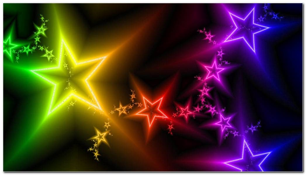 Stars  Light  Colorful Background Wallpaper