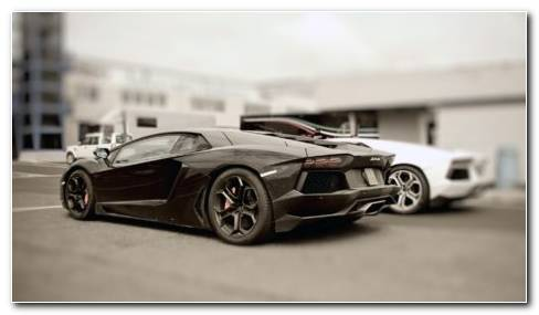 Stylish Black Lamborghini HD Wallpaper