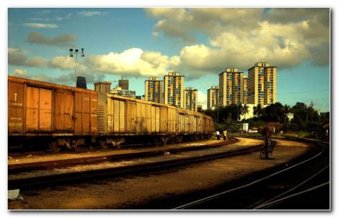 Suburban Railway HD wallpaper
