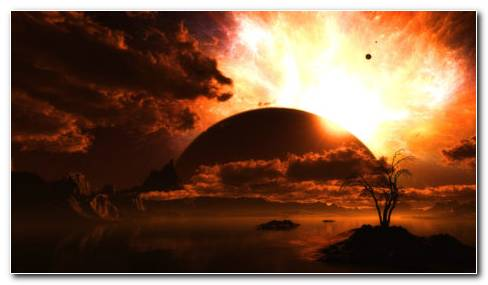 Sun Rising In Space HD Wallpaper