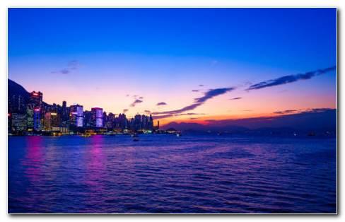 Sunset Over Beautiful City HD Wallpaper
