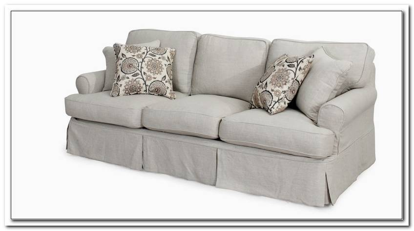 T Cushion Sofa Slipcovers White