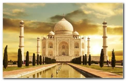 Taj Mahal India HD wallpaper