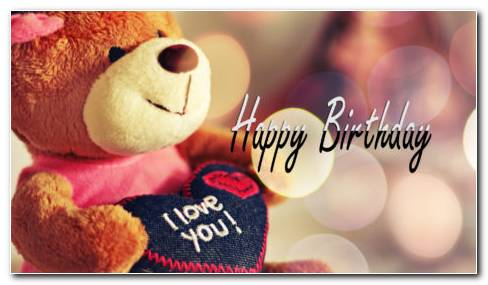 Teddy Happy Birthday HD Wallpaper