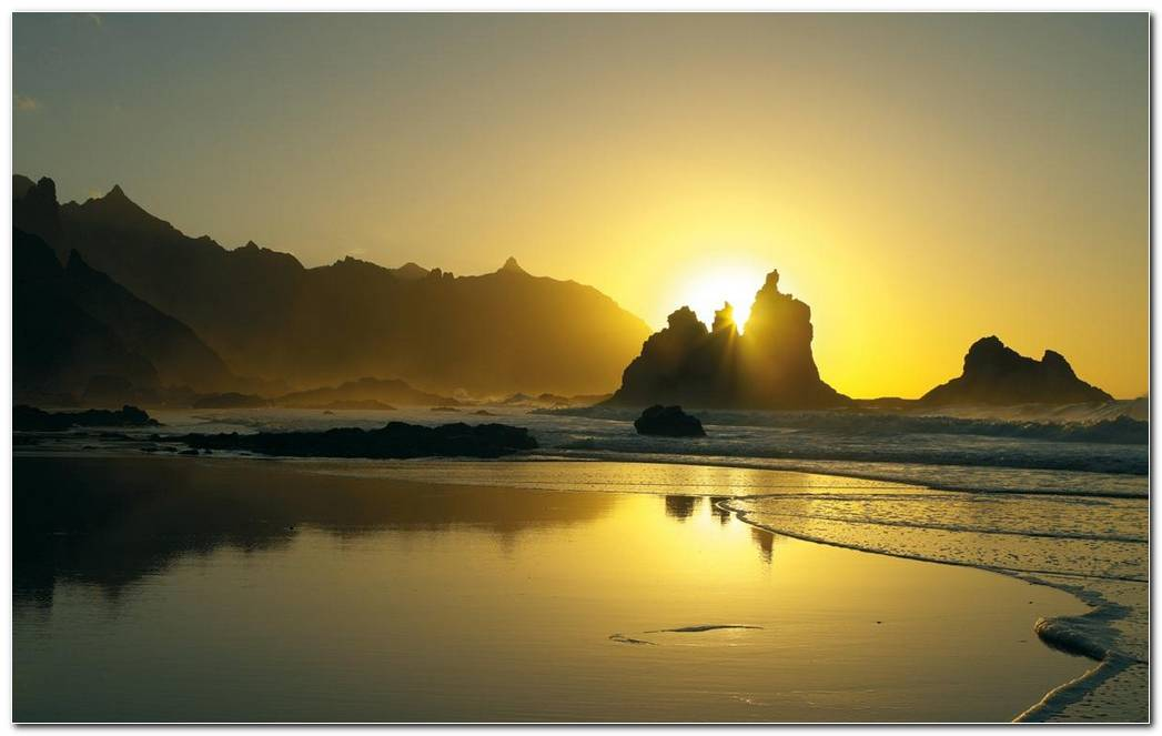 Tenerife Island Sunset Wallpaper