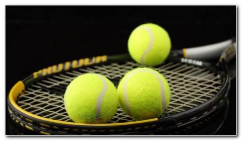 Tennis Balls On Racket HD Wallpaper