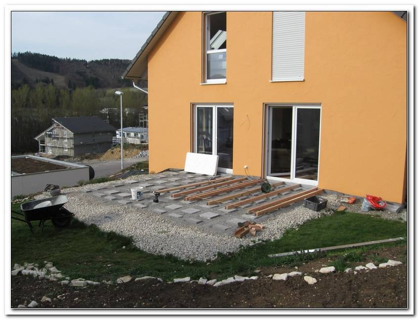 Terrasse Douglasie Unterkonstruktion Abstand