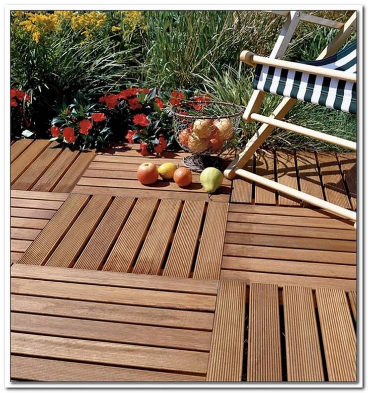 Terrasse Fliesen Holz