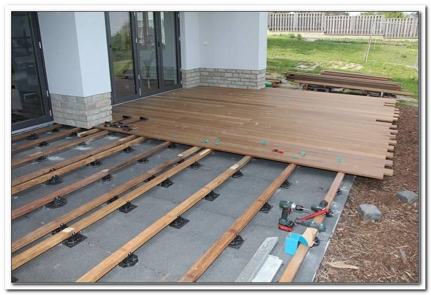 Terrasse Holz Unterbau