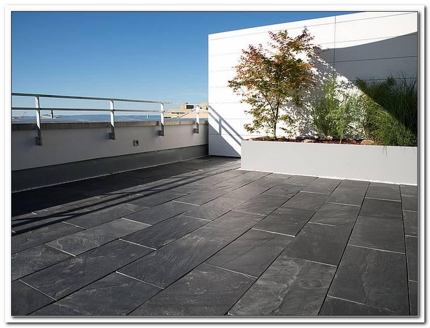 Terrasse Schieferplatten