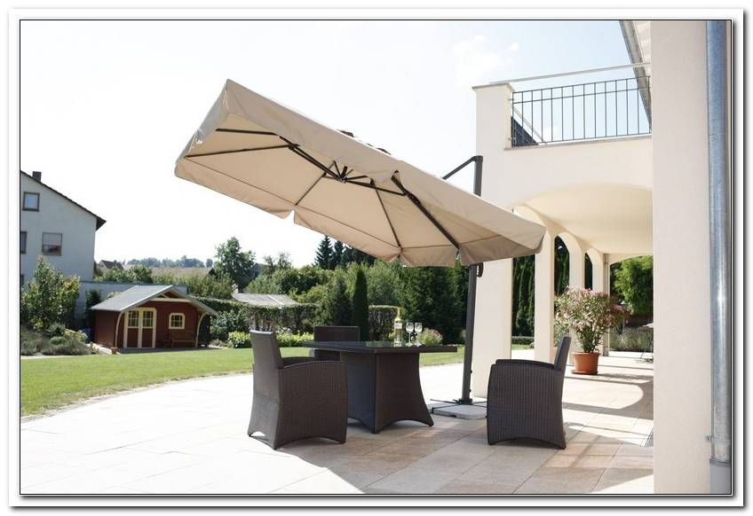 Terrasse Schirm