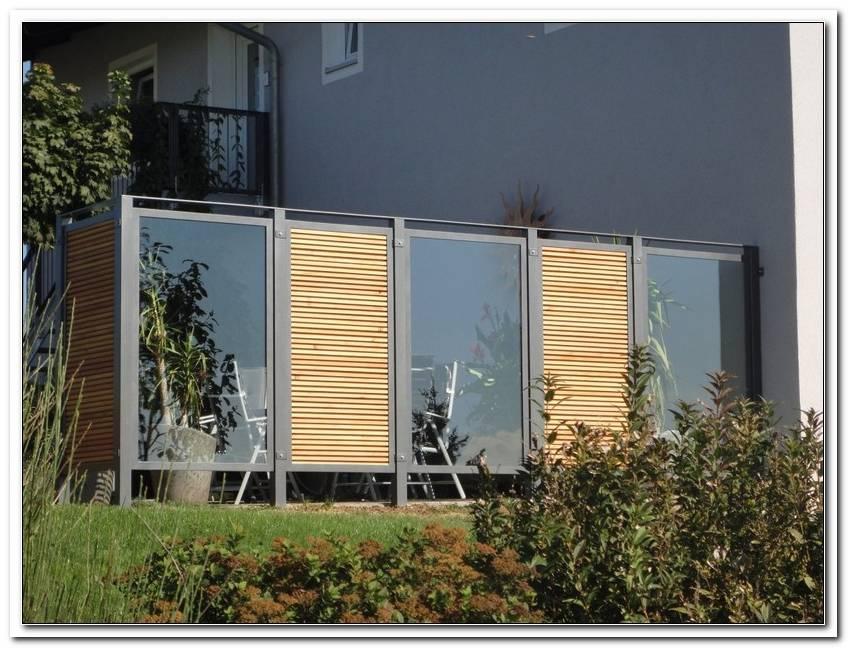 Terrasse Sichtschutz Glas