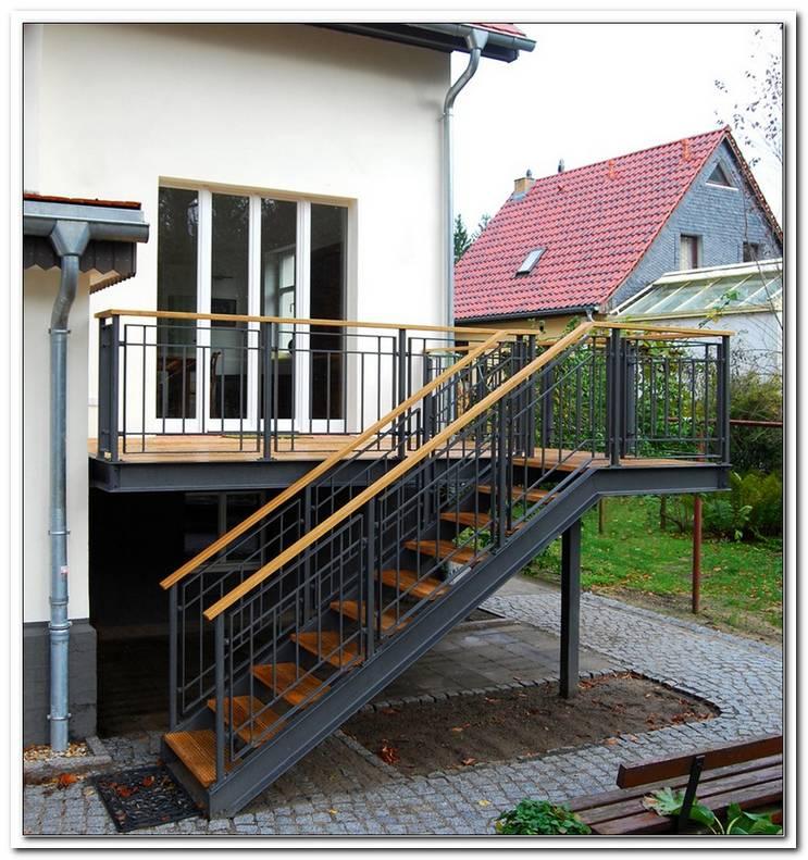 Terrasse Treppe Stahl